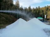 Fabryka śniegu w Karpaczu pracuje pełną parą. Kiedy rozpocznie się sezon narciarski? [ZDJĘCIA]