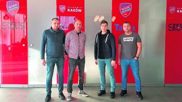 Szkoleniowcy (z lewej) Tomasz Mielewczyk, Adam Pietras, Marcin Rusakiewicz, Damian Kotłowski