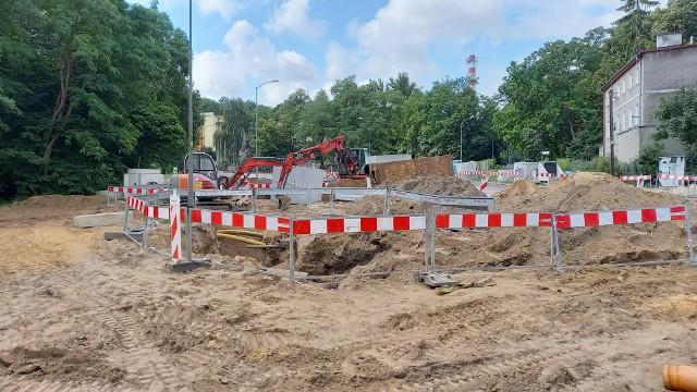 Trwają prace związane z przebudową skrzyżowania ulic Mączna, Walecznych i Pszenna.