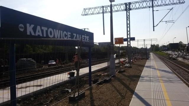 Przebudowa stacji kolejowej w Załężu