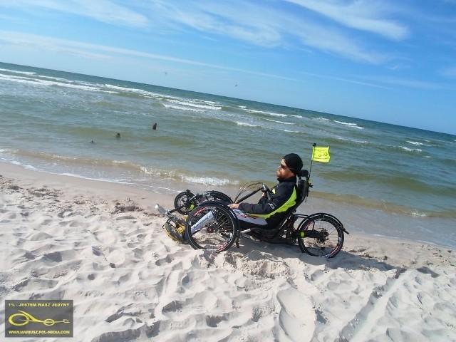 Mariusz Urbanek chce przejechać na rowerze całe polskie wybrzeże
