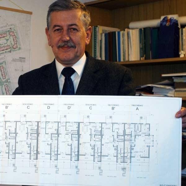 Prezes Stanisław Kubit: - Na pierwszych osiem  zaprojektowanych domów już mamy chętnych.