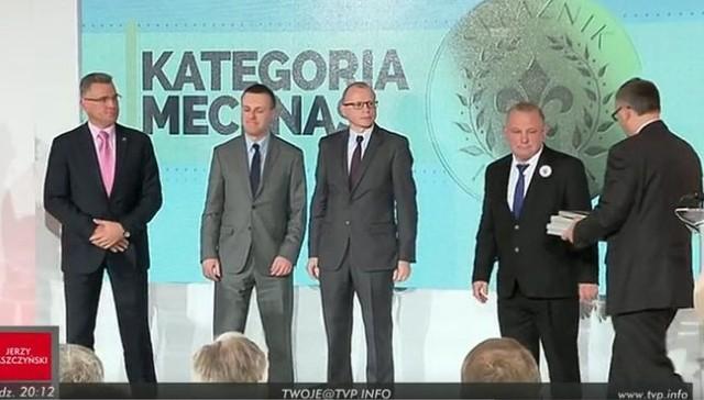Zbigniew Banaszek podczas gali na Zamku Królewskim (z prawej).