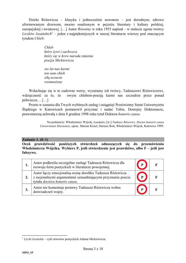 Matura 2018 Polski Rozprawka Konteksty Teza Zasady