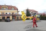 Śmigłowiec LPR wylądował pod hotelem na Kowalach. Reanimowano rowerzystę [ZDJĘCIA]