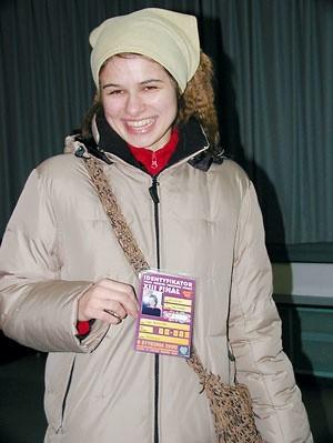Jako pierwsza identyfikator odebrała Michasia Arcichowska, uczennica I LO w Ostrołęce