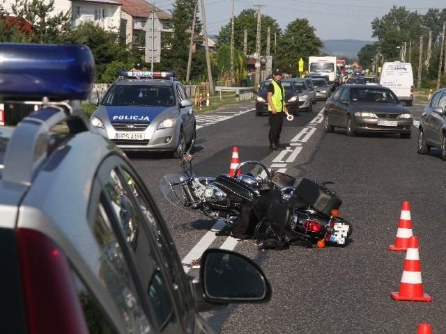 Na miejscu wypadku w Radlinie.