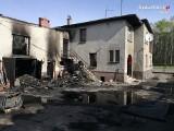 Pożar w Rybniku. Spłonął dom przy ul. Żorskiej. Policjanci ewakuowali domowników i sąsiadów