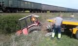 Wypadek na przejeździe kolejowym w Racławicach Śląskich. Trasa kolejowa Kędzierzyn-Koźle - Nysa jest już przejezdna