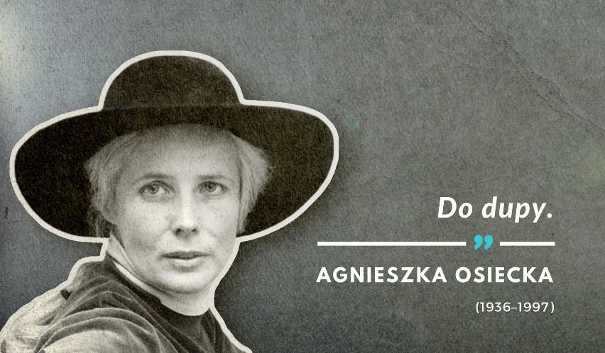 Ostatnie słowa Agnieszki Osieckiej wypowiedziane 7 marca...