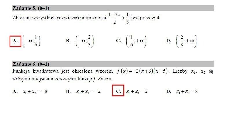 Matura 2018 matematyka poziom podstawowy - arkusze, odpowiedzi. Matura z matematyki 2018 poziom podstawowy 7.05.2018 [arkusze, rozwiązania]