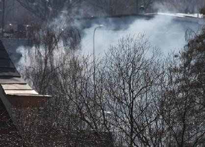 Dym było widać z daleka