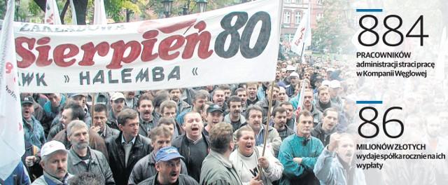 W Kompanii Węglowej jest trzynaście związków zawodowych, w kopalniach działają w sumie 162 organizacje