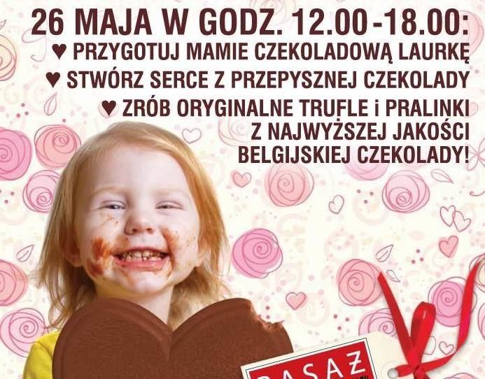 """Akcję pod hasłem """"Pokaż mamie jak mocno, czekoladowo ją kochasz"""" organizuje Pasaż Świętokrzyski w Kielcach."""