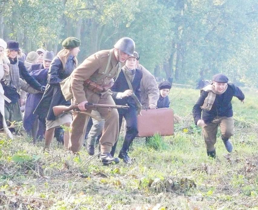 Inscenizacji walk o Łowicz w czasie bitwy nad Bzurą
