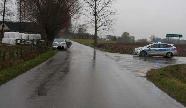Wypadek w miejscowości Gołębie Leśniewo