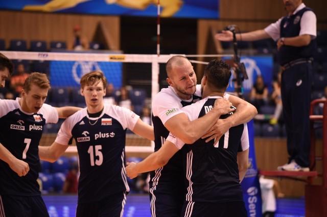 Fabian Drzyzga w meczu z Serbami zdobył trzy punkty.