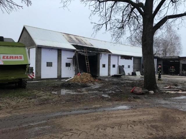 Pożar w gminie Jedlińsk.