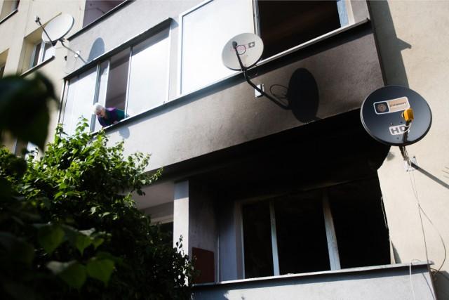 Spalone mieszkanie na ul. Mazowieckiej w Krakowie.