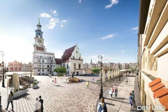 Tak będzie wyglądał poznański Stary Rynek po przebudowie, o ile miastu uda się zrealizować inwestycję.