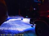 Ktoś usypał zaspę śniegu w poprzek drogi! Interweniowali strażacy