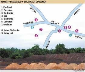 Gdy Biedronka i Lidl zostaną wybudowane w mieście będzie łącznie 9 tego typu obiektów.
