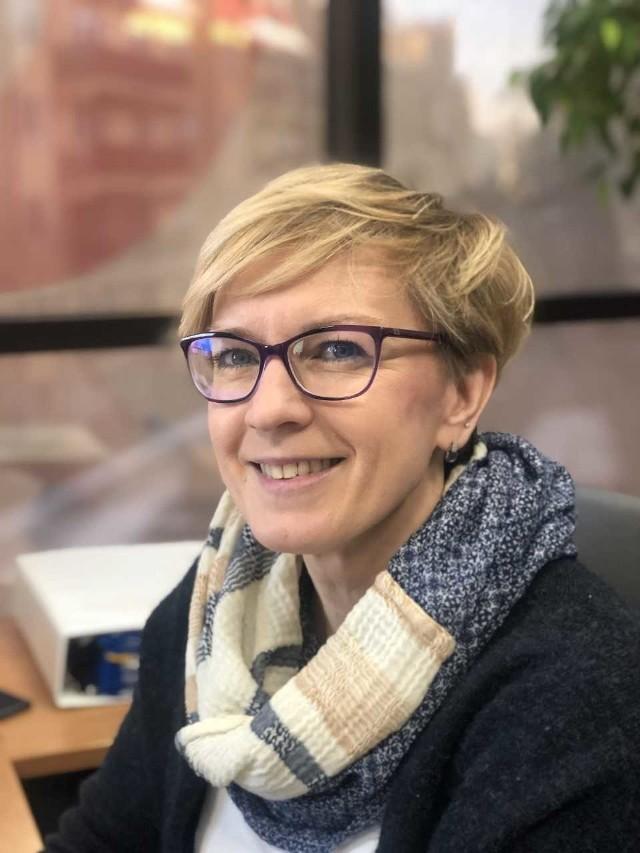 Anna Bajkowska z Podlaskiego Funduszu Poręczeniowego należącego do struktur Podlaskiej Fundacji Rozwoju Regionalnego.