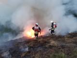 Lubień. Ponad trzy godziny zajęło strażakom gaszenie pożaru siana