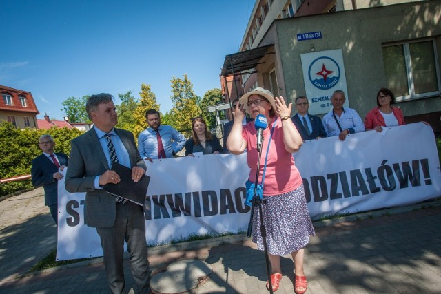 Protest w obronie szpitala w Pucku. Powiatowy PiS nie wyklucza odwołania starosty