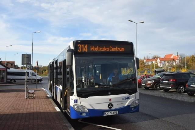 Autobus 314 (Wieliczka - Kraków) kursował bardzo krótko, od jesieni 2019 do wiosny 2020. Wiele wskazuje na to, że linia której kursy zwieszono na początku pandemii Covid-19, w ogóle nie wróci na trasę