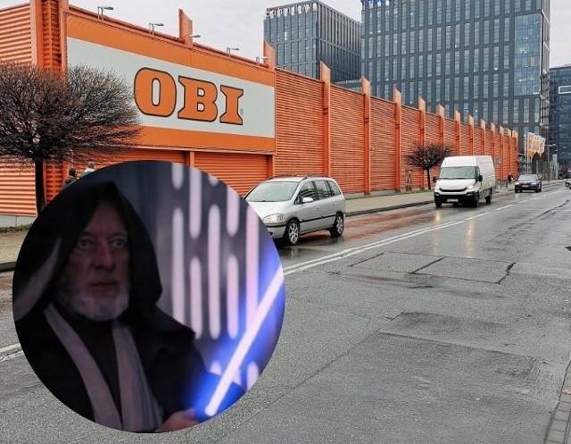 Obi Wan Kenobi będzie patronem ulicy, przy której stoi market Obi?