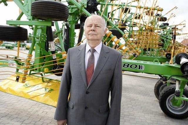 Antoni Stolarski, prezes SaMASZ-u, jest zadowolony z tegorocznych wyników swojej spółki