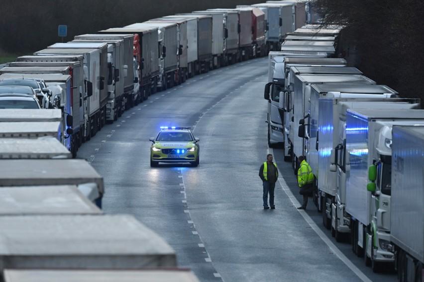 Dramat kierowców polskich ciężarówek. Utknęli w Dover, bo...