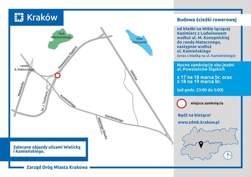 Krakow Al Powstancow Slaskich Zostanie Dzis Calkowicie Zamknieta