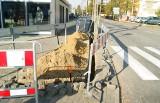Wahadło na ulicy Traugutta w Ozorkowie - początek dużej przebudowy