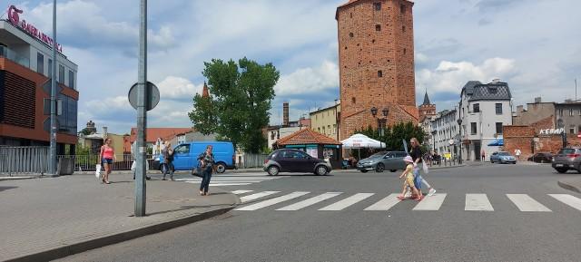 Do wypadku doszło na przejściu dla pieszych na ul. Nad Drwęcą w Brodnicy