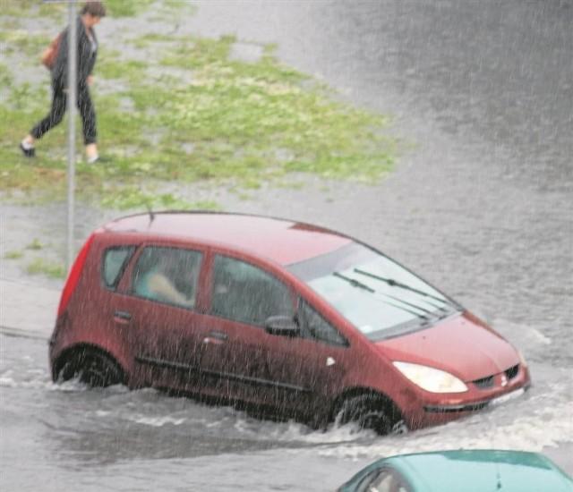Podczas ostatniej ulewy chojnickie ulice zamieniły się w rwące  rzeki