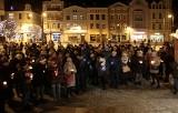 Po śmierci prezydenta Gdańska. Spontaniczna akcja przeciw przemocy na Rynku w Grudziądzu [zdjęcia, wideo]