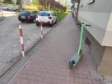 Częstochowa. Miejski Zarząd Dróg chce zrobić porządek z hulajnogami elektrycznymi. Wyznaczono dla nich specjalne miejsca