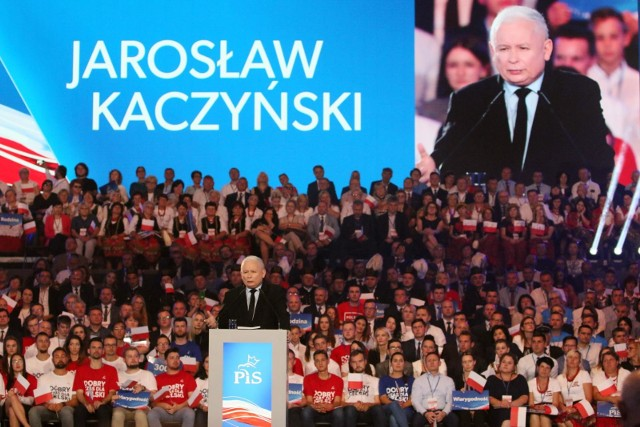 Jarosław Kaczyński na konwencji w Lublinie 7 września 2019