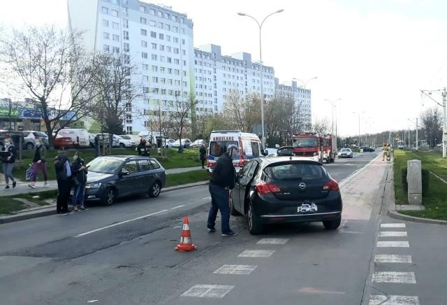 Wypadek na ul. Dokerskiej we Wrocławiu 26.04.2021