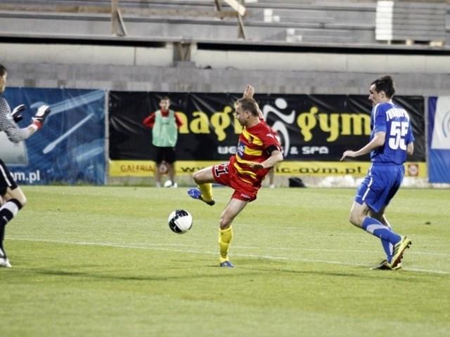 strzelił jedyną bramkę w meczu Jagiellonia - Irtysz Pawłodar