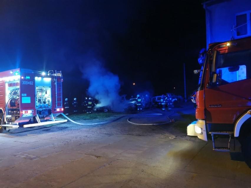 """Trzy auta zostały zniszczone w pożarze, który wybuchł w niedzielę, 26 kwietnia, w Witnicy przy ul. Wojska Polskiego. - Zgłoszenie otrzymaliśmy tuż przed północą, o godz. 23.45 – informuje bryg. Bartłomiej Mądry, oficer prasowy z Komendy Miejskiej Państwowej Straży Pożarnej w Gorzowie. Spaliły się dwa samochody osobowe: ford i renault. Zaparkowany obok opel został uszkodzony. Wysoka temperatura sprawiła, że m.in. popękały w nim szyby. - Z ogniem walczyły trzy zastępy straży pożarnej z Witnicy i Kostrzyna. Akcja gaśnicza trwała około godziny. Na szczęście nikomu nic się nie stało. Przyczyny pożaru będzie ustalać policja, która również była na miejscu – dodaje bryg. Bartłomiej Mądry. Czytaj także: Lasy i łąki w Lubuskiem płoną na potęgę. Leśnicy i strażacy mają pełne ręce roboty. Większość pożarów to podpaleniaZobacz wideo: """"Zawsze Biebrza o tej porze była wylana, była zieleń"""", a teraz """"wielka, czarna połać"""". Mieszkańcy załamani pożarem w Biebrzańskim Parku Narodowymwideo: TVN24"""