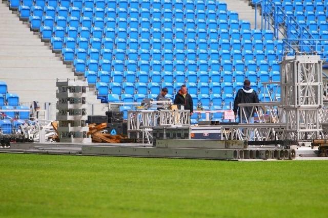 Stadion przy Bułgarskiej sprawdzili technicy odpowiedzialni za nagłośnienie koncertów Adele...