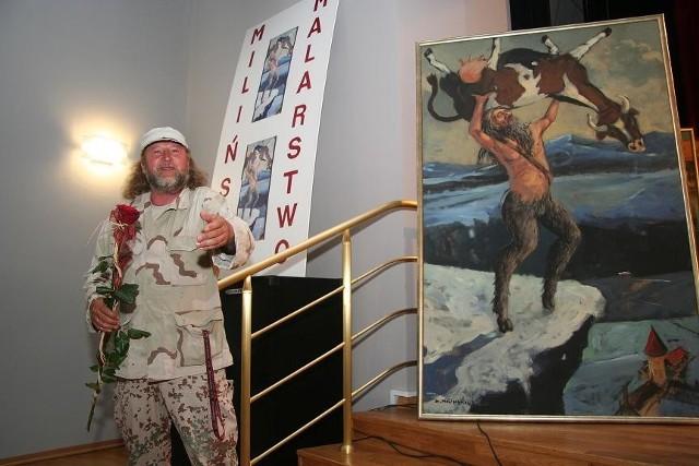 W czasie zeszłorocznego święta znakomity pokaz malarstwa w zborze, ale także prezentację teatralną przygotował artysta Andrzej Miliński