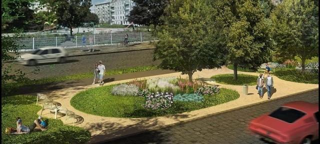 ruszyły prace przy budowie parku kieszonkowego przy ul. Pereca