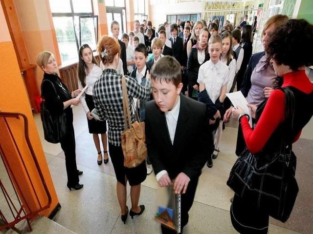 Na zdjęciu uczniowie SP 8 w Świeciu, gdzie do egzaminu przystąpiło 81 osób