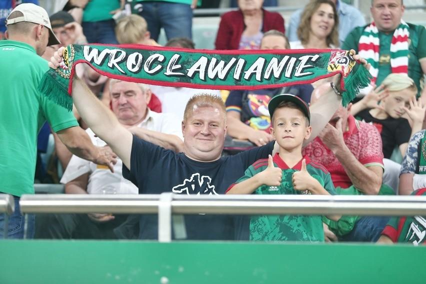 Kibice na meczu Śląsk Wrocław - Legia Warszawa, Stadion...