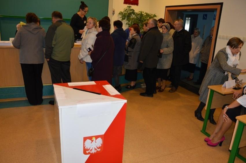 W Człuchowie w lokalu wyborczym na Osiedlu Witosa.