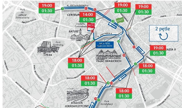 Wielkie bieganie w sobotę i niedzielę spowoduje duże utrudnienia Białymstoku